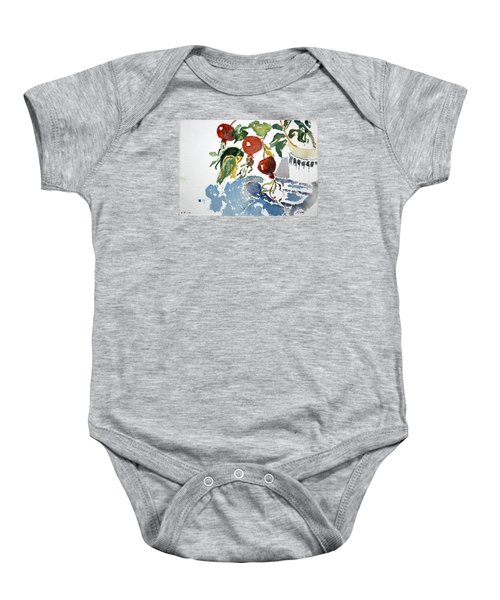 Abstract Vegetables 2 Baby Onesie