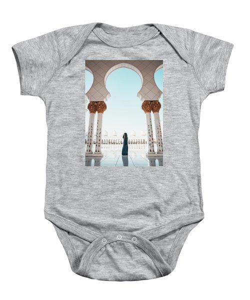 Abu Dhabi Mosque Baby Onesie