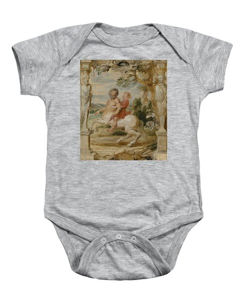 Achilles Educated By The Centaur Chiron Baby Onesie