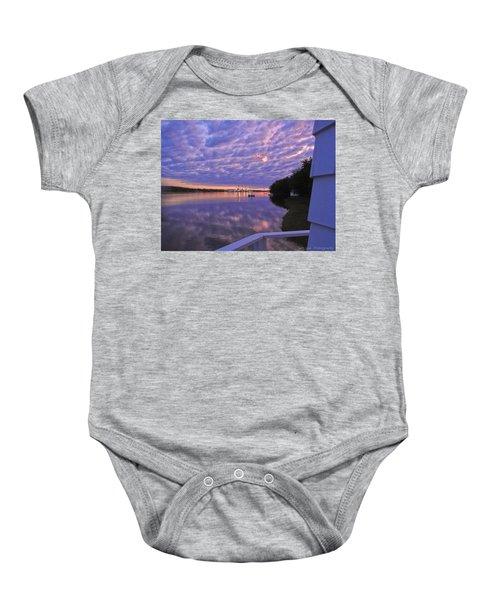 Across The River Baby Onesie