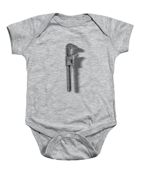 Adjustable Wrench Backside In Bw Baby Onesie