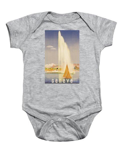 Advertisement For Travel To Geneva Baby Onesie
