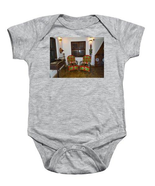 African Interior Design 5 Beaded Chairs Baby Onesie