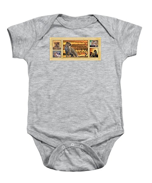 African Leopards And Cheetahs Baby Onesie by Mike Henniger Marilyn Alexander