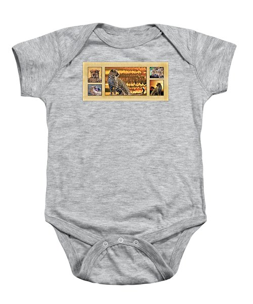 African Leopards And Cheetahs Baby Onesie
