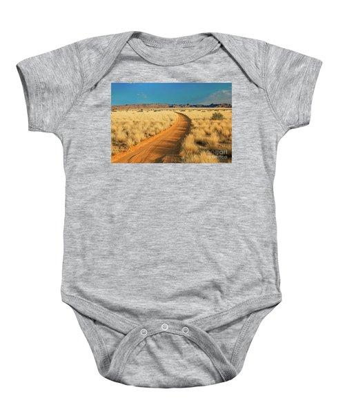 African Sand Road Baby Onesie