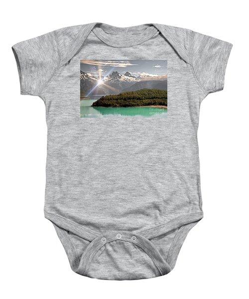 Alaskan Mountain Reflection Baby Onesie
