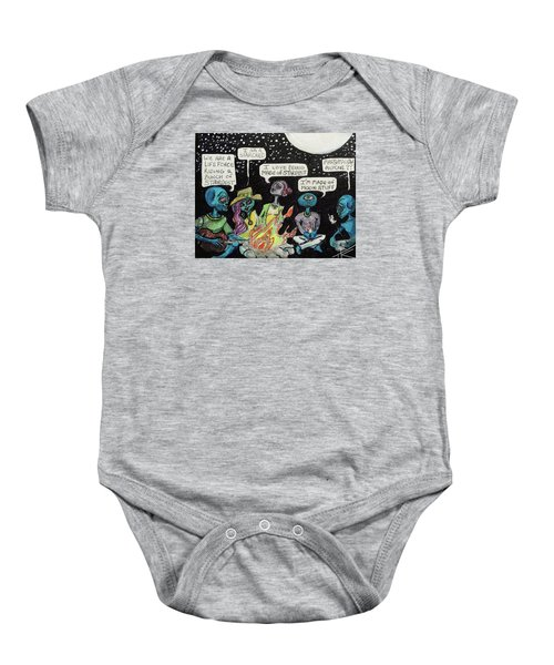 Aliens By The Campfire Baby Onesie