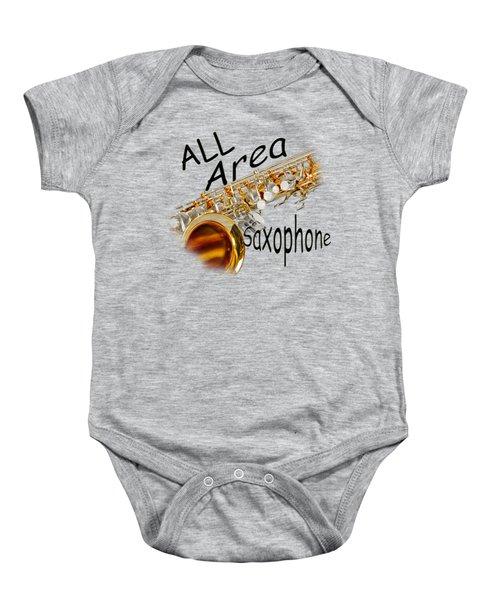 All Area Saxophone Baby Onesie