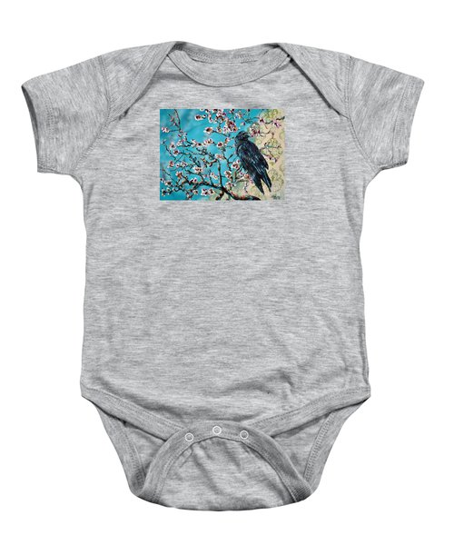 Almond Branch And Raven Baby Onesie