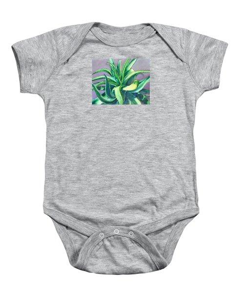 Aloe Vera Watercolor Baby Onesie