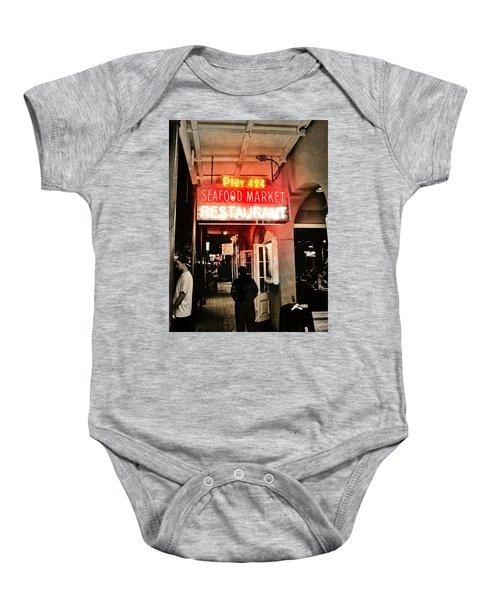 Along Bourbon Street - New Orleans Baby Onesie