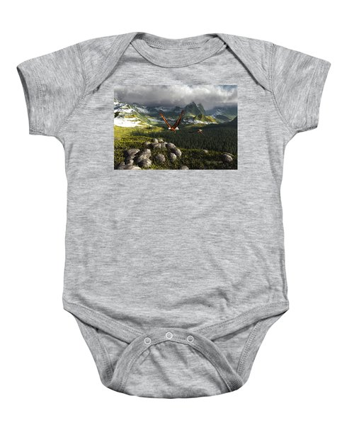 Along The Pinnacles Of Time Baby Onesie