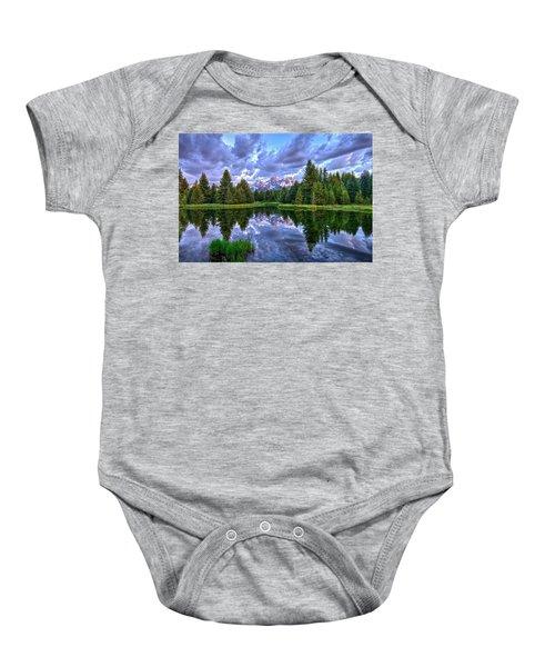 Alpenglow In The Tetons Baby Onesie