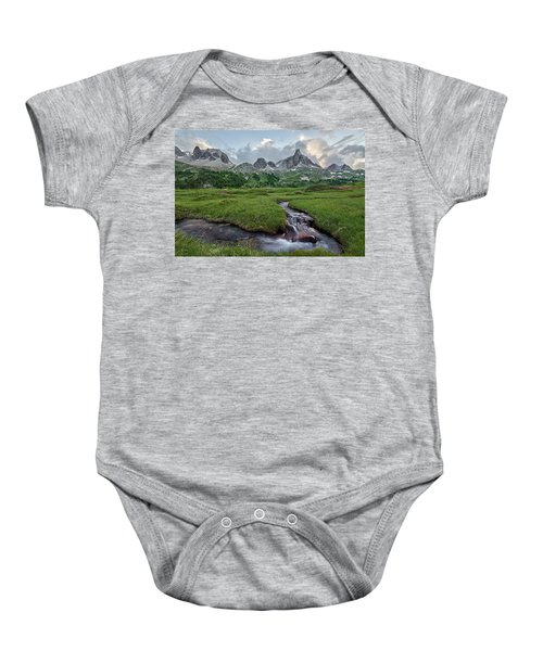 Alps In The Afternoon Baby Onesie