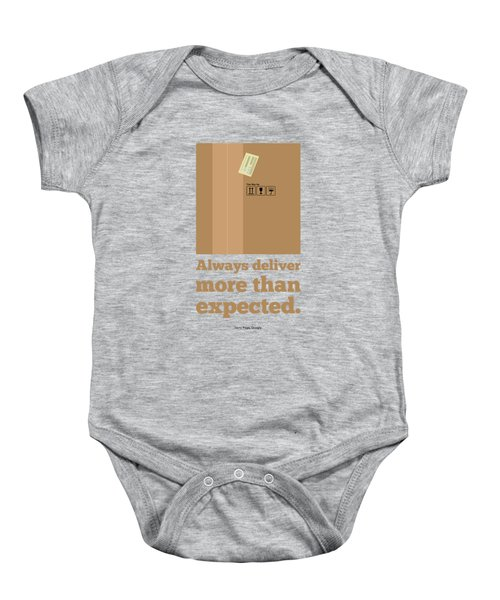 Always Deliver More  Than Expected Inspirational Quotes Poster Baby Onesie