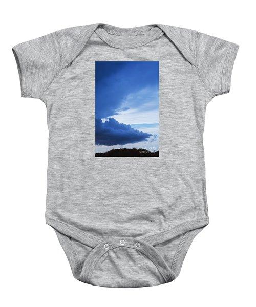 Amazing Blue Sky Vertical Baby Onesie