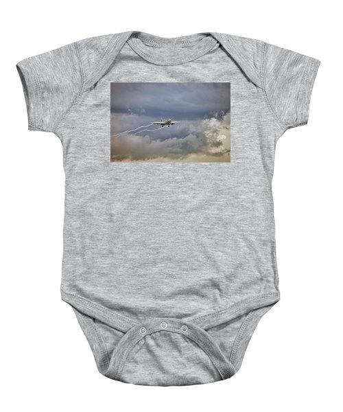 American Aircraft Landing Baby Onesie