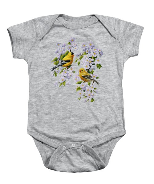 American Goldfinch Spring Baby Onesie