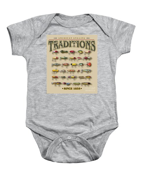 American Traditions Lures Baby Onesie