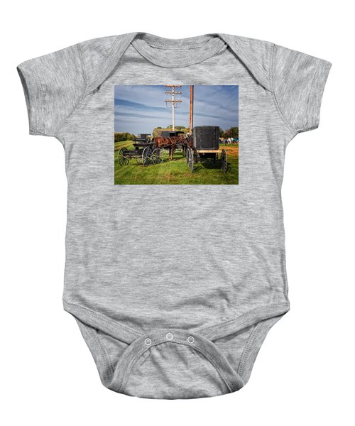 Amish At The Auction Baby Onesie