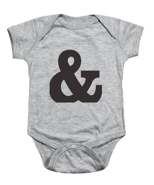 Ampersand - And Symbol 3 - Minimalist Print Baby Onesie