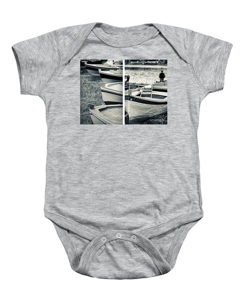 An Old Man's Boats Baby Onesie