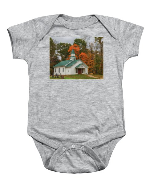 An Old Ohio Country Church In Fall Baby Onesie
