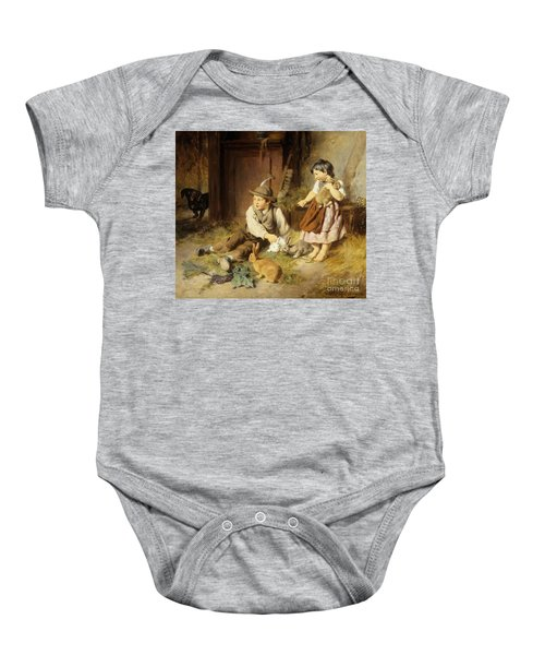 An Unwelcome Visitor Baby Onesie by Felix Schlesinger