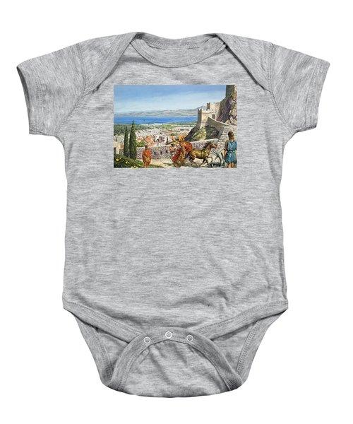Ancient Corinth Baby Onesie