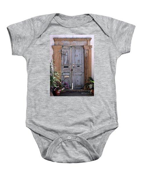 Ancient Garden Doors In Greece Baby Onesie