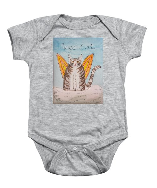 Angel Cat Baby Onesie