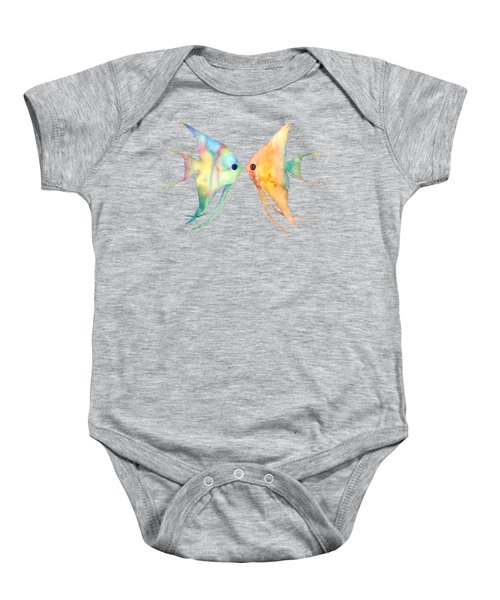 Angelfish Kissing Baby Onesie
