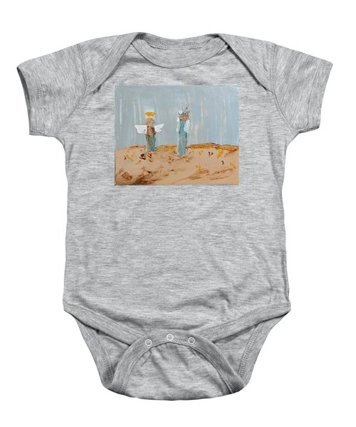 Angels Taking Care Of E Baby Onesie