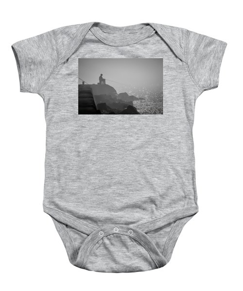 Angling In A Fog  Baby Onesie by Bill Pevlor