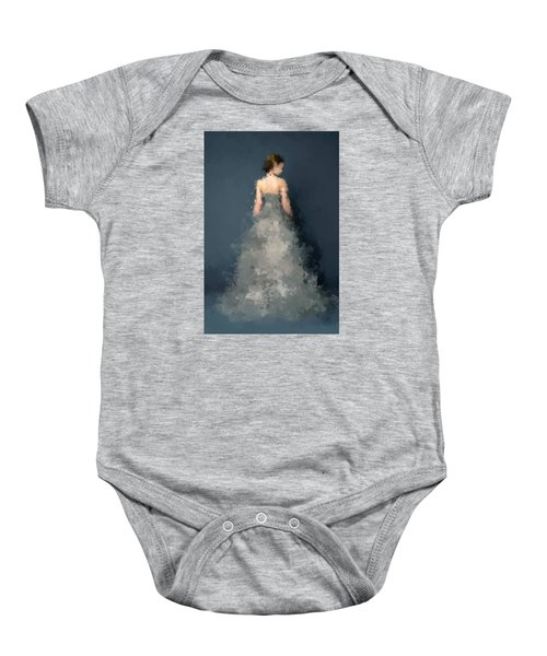 Baby Onesie featuring the digital art Anna by Nancy Levan