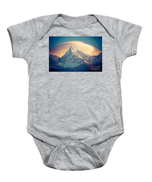 Annapurna Sunrise Himalayas Mountains Baby Onesie