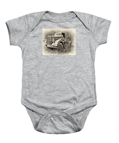 Antique 1947 Mack Truck Baby Onesie