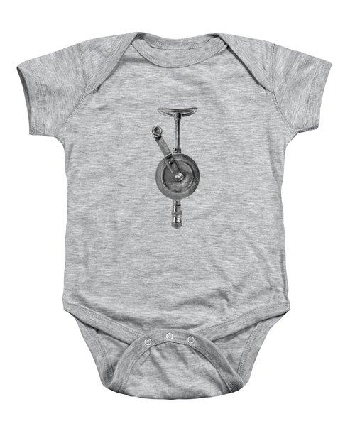 Antique Shoulder Drill Front Bw Baby Onesie