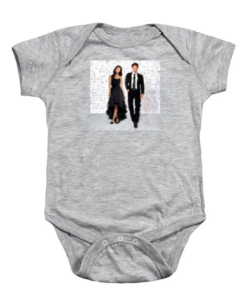 Baby Onesie featuring the digital art Antonia And Giovanni by Nancy Levan