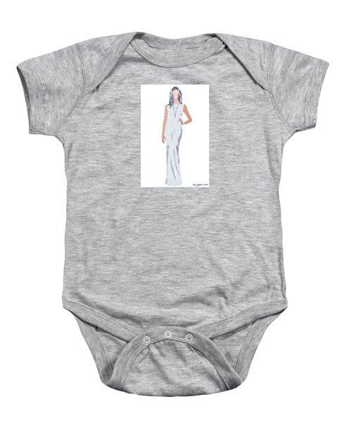 Baby Onesie featuring the digital art April by Nancy Levan