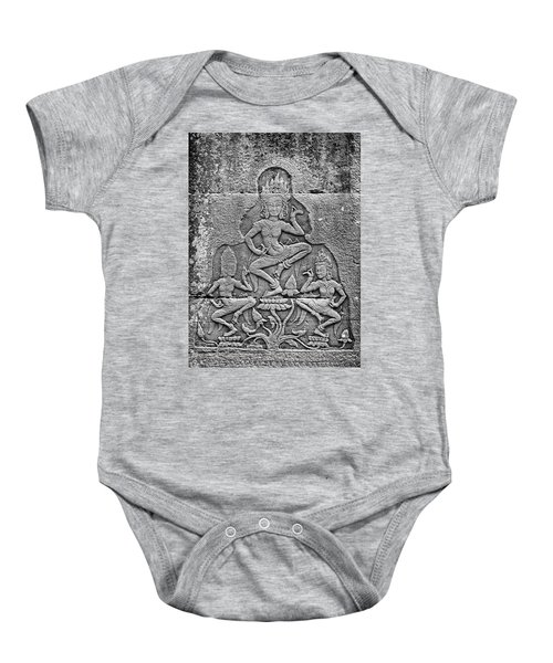 Baby Onesie featuring the photograph Apsaras 3, Angkor, 2014 by Hitendra SINKAR