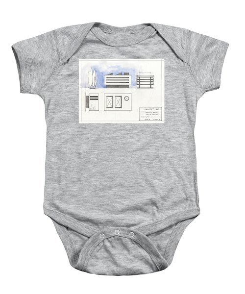 Architectural Drawing Baby Onesie