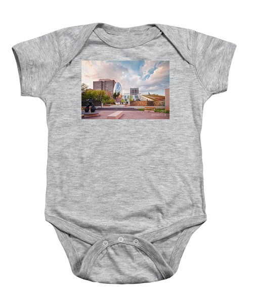 Architectural Photograph Of Anish Kapoor Cloud Column At The Glassell School Of Art - Mfa Houston  Baby Onesie