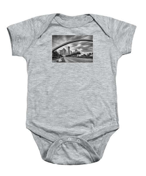 Architectural Photograph Of Post Oak Boulevard At Uptown Houston - Texas Baby Onesie