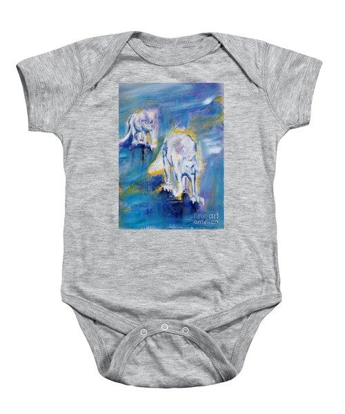 Arctic Wolves Baby Onesie