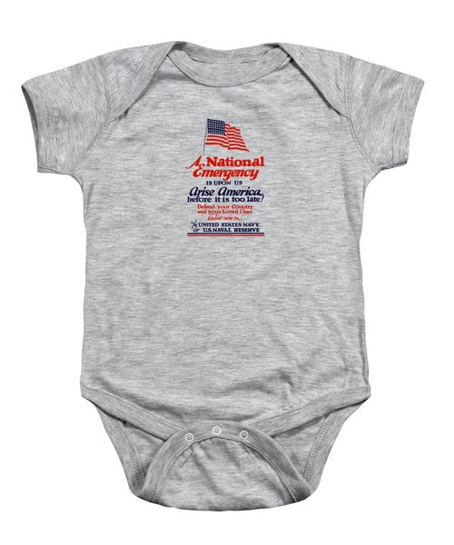 Arise America Before It Is Too Late - Join The Navy Baby Onesie