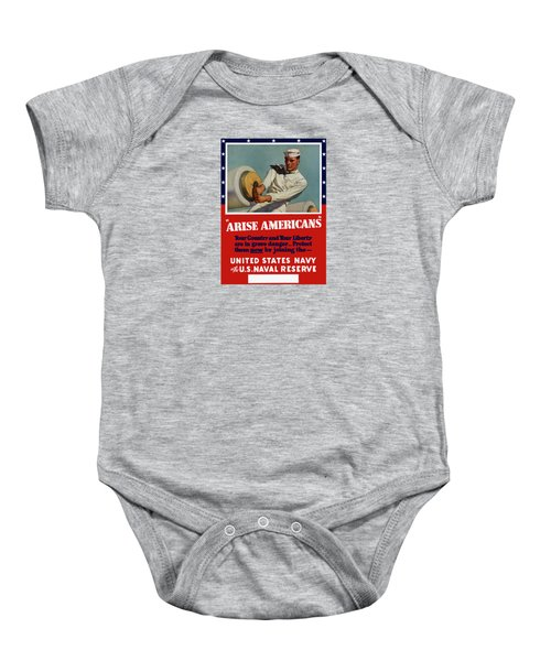 Arise Americans Join The Navy  Baby Onesie