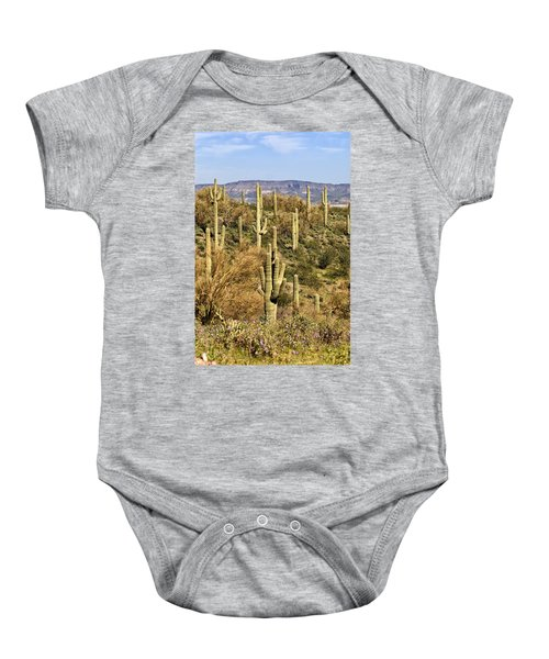 Baby Onesie featuring the photograph Arizona Desert by Renee Hong