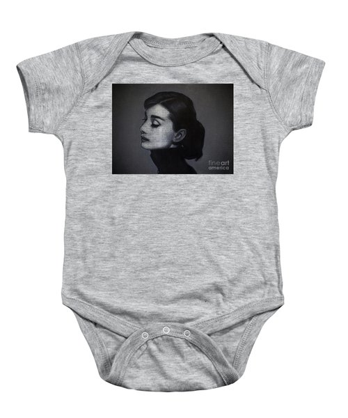 Art In The News 98-audrey Hepburn Baby Onesie